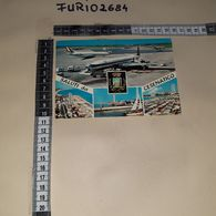 C-94057 SALUTI DA CESENATICO PANORAMA VEDUTE AEREOPORTO AEREI OLYMPIC AIRWAYS ALITALIA - Autres Villes
