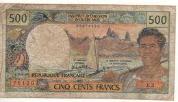 TAHITI   500 Francs INSTITUT D'ÉMISSION D'OUTRE-MER-Papeete   (ND 1985) - Papeete (Polynésie Française 1914-1985)