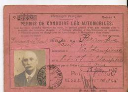 Permis De Conduire Les Automobiles Paranque Paul 1927 Valdampierre - Sin Clasificación