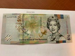 Bahamas 1/2 Dollar Uncirc. Banknote 2019 - Bahamas