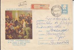 FAMOUS PEOPLE, LENIN, COMMUNIST MEETING, REGISTERED COVER STATIONERY, ENTIER POSTAL, 1970, ROMANIA - Lenin