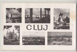CPA CLUJ NAPOCA- BOTANICAL GARDEN, THEATRE, SQUARE, STATUE, PANORAMAS, BUSS, CAR - Romania