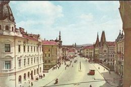 CPA CLUJ NAPOCA- FORMER GHEORGHE DOJA STREET, BUSS, CAR - Romania