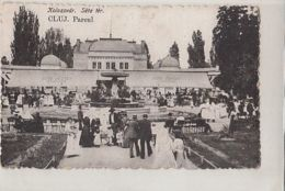 CPA CLUJ NAPOCA- THE PARK, ALLEYS, FOUNTAIN, PEOPLE IN VINTAGE CLOTHES - Romania