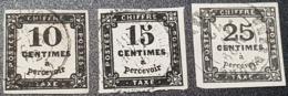 Taxe N° 2/3/5 Avec Oblitération Cachet à Date   TTB - 1859-1955 Gebraucht