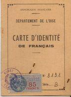 Carte D'identité Duparc Paul 1888 à Broyes Chef De Bataillon - Sin Clasificación
