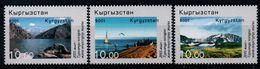 Kyrgyzstan 2001, Scott 167-169, MNH, Tourism - Kyrgyzstan