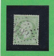 N° 20a Vert Jaune Sur Verdatre  -   GC  N° 2793   PASSY-les-PARIS  (60 ) SEINE & PARIS  - REF 9916 - 1862 Napoléon III