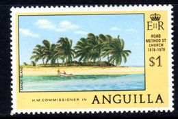 ANGUILLA - 1978 ANNIVERSARIES $1 SANDY ISLAND MISSING 'I' ERROR STAMP FINE MNH ** SG 328a - Anguilla (1968-...)