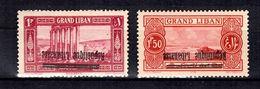 Grand Liban Maury N° 85 G Et N° 86c Variétés Surcharges Renversées Neufs ** MNH. TB. A Saisir! - Great Lebanon (1924-1945)