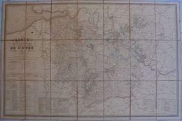 Grande Carte Du Département  De L'Eure, 1842 - Mapas Geográficas