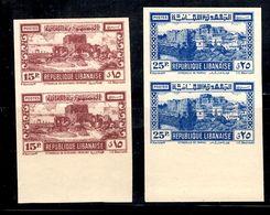 Grand Liban Maury N° 197 Et N° 199 En Paires Non Dentelés Neufs ** MNH. TB. A Saisir! - Unused Stamps