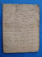 Grosse Liasse 62 Pages Manuscrit XVI XVII ème Généralité POITIERS - Manuscrits