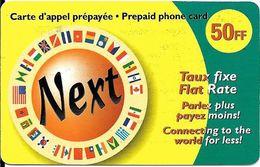 CARTE-PREPAYEE-50FF-NEXT-Gratté-TBE     - - France