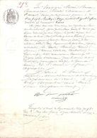 Bon Lot De 3 Documents Fin XIX ème Avec Timbres à Sec Et Fiscaux - Manuscrits