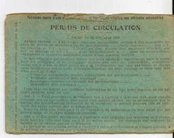 Permis De Circulation Tunis 1932 Duparc Paul - Historical Documents