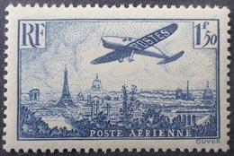 R1319/129 - 1936 - POSTE AERIENNE - AVION SURVOLANT PARIS - N°9 NEUF** - Airmail