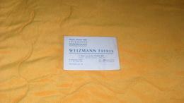 CARTE PUBLICITAIRE PUBLICITE ../ WEIZMANN FRERES MAISON SPECIALE POUR VETEMENTS PROFESSIONNELS PARIS XIVe.. - Advertising