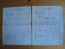 LOT DE 2 FACTURES STEPHEN BART VIN DE SOLOGNE SAINT-CLAUDE-DE-DIRAY LOIR-ET-CHER 1924 - 1900 – 1949