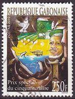Timbre Oblitéré N° 1196(Yvert) Gabon 2010 - Prix Spécial Du Cinquantenaire - Gabon (1960-...)