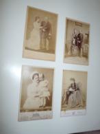 LOT 4 PHOTOS ANCIENNES PAYS BAS ROI REINE PRINCESSE PAULINE DES PAYS BAS LEGENDE AU DOS - Pays-Bas