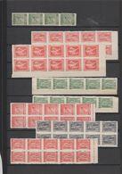 Grèce 1912-22 Litho Lot De Timbres Du 194A Au 198L En Panneaux Voir Scans ** MNH - Greece