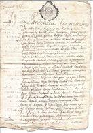 Très Bel Acte Notarié Du 23 Août 1765 Département De La Meuse  4 Pages - Manuscrits