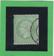 N° 20a Vert Jaune Sur Verdatre -   CACHET A DATE  - REF 9916 - 1862 Napoléon III
