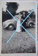 Photo VOLKSWAGEN Coccinelle Circa 1950 Automobile Auto Voiture Oldtimer Car Wagen - Auto's