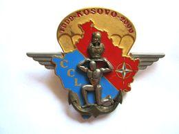 ANCIEN INSIGNE GENIE PARACHUTISTE 17° RGP CCL OPEX KOSOVO 1999 (NUMEROTE) L.R PARIS - Army