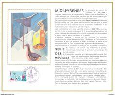Lot - FDC Y&T 1866 MIDI-PYRÉNÉES - Y&T 1787 ROISSY EN FRANCE - GENEVE COINTRIN 1976 - Concorde