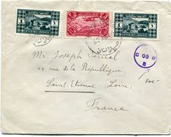 GRAND LIBAN LETTRE CENSUREE DEPART SAIDA-LIBAN 30 XII 40 POUR LA FRANCE  (RARE) - Briefe U. Dokumente