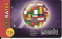 CARTE-PREPAYEE-7,5€+2,5-EXTRATEL-Plastic FIN--Exp 31/12/2013-Gratté-TBE-RARE     - - France
