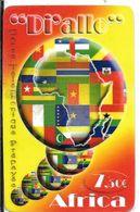 CARTE-PREPAYEE-7,5€-DI ALLO-AFRICA-Plastic FIN--Exp 31/12/2005-Gratté-TBE-RARE     - - France