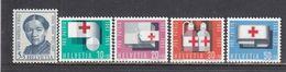 Switzerland 1963 - Pro Patria: Red Cross, Mi-Nr. 775/79, MNH** - Suisse