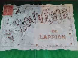 LAPPION - Souvenir De Lappion - Carte Moirée , à Paillettes Et Pierre - - Frankreich