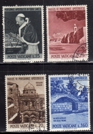 CITTÀ DEL VATICANO VATICAN VATIKAN 1964PELLEGRINAGGIO PAOLO VI TERRA SANTA HOLY EARTH SERIE COMPLETA COMPLETE SET USATA - Oblitérés