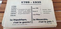 TRACT ACTION FRANCAISE /LA REPUBLIQUE C EST LA GUERRE LA MONARCHIE C EST LA PAIX - Historical Documents