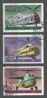 Russia - Soviet Union, 1980 (#4753a), History Of Aircraft Construction, Helicopters - 3v Incomplete Set Cancelled - Elicotteri