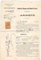 Timbre FISCAL De TUNISIE : DIMENSION à 90c, Sur Concession De Terrain Au Cimetière Européen Dit OUED-EL-ASSEL à BIZERTE. - Tunesië (1956-...)