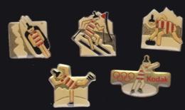 65861-Lot De 5 Pin's.Kodak.Photo.Jeux Olympiques.Ski. - Fotografía