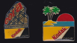 65862-Lot De 2 Pin's.Kodak.Photo. - Fotografía