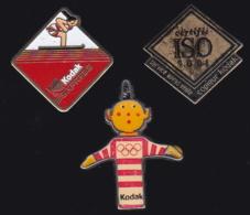 65865-Lot De 3 Pin's.Kodak.Photo. - Fotografía