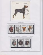 TANZANIA 1994 DOGS PERROS CHIENS COMPLETE SET YVERT NRS. 1421-1427 ET BLOC 218 Used - Dogs