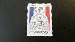France Timbre NEUF N° 4959  - Année 2015 - Cinquantenaire Du Service Central D' état Civil - Francia