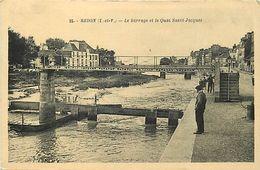 - Ille Et Vilaine -ref-C203- Redon - Barrage Et Quai Saint Jacques - - Redon