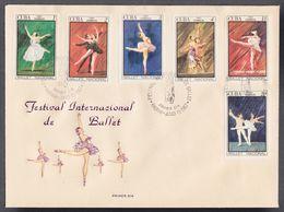 FDC CUBA 1967. FESTIVAL INTERNACIONAL DE BALLET. EDIFIL 1471/76 - FDC