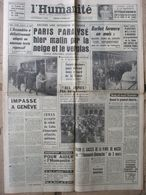 Journal L'Humanité (20 Fév 1963) Berliet - A Bougival - Incendiaire Valenton - Evtouchenko - 1950 à Nos Jours