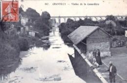 60 - Oise - CHANTILLY -  Viaduc De La Canardiere ( Lavoir, Pecheur A La Ligne ) - Chantilly