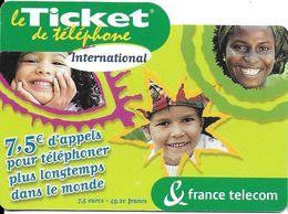 TICKET FRANCE TELECOM INTERNATIONAL 7.5 € - Frankreich